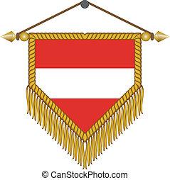 vector pennant with the flag of Austria