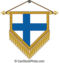 vector pennant with the flag of Finland