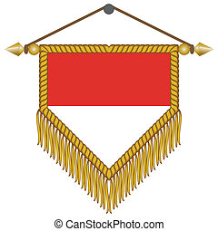 vector pennant with the flag of Monaco