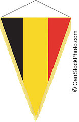 vector pennant with the national flag of Belgium