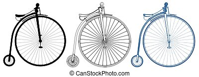 vector..., penny-farthing, bicicletta