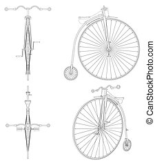 vector..., penny-farthing, fiets