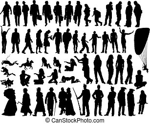 vector people - Big vecto collection of different...