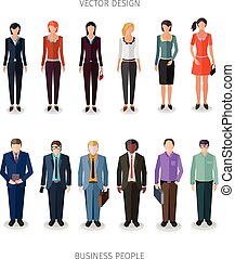 vector people collection - collection of twelve people...