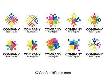 vector people community logo.