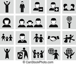Vector  people icons set