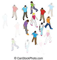 Vector People Walking