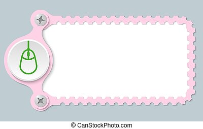 vector perforated frame and mouse icon