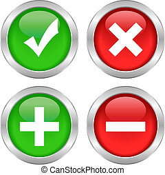 Vector permission buttons