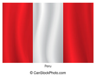 Peru flag - Vector Peru flag with title on the white...
