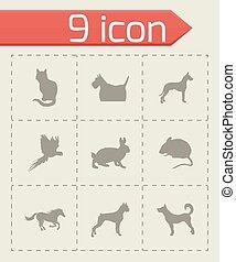 Vector pet icons set