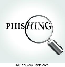 Vector phishing concept illustration