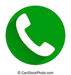 Vector - Phone icon on green button. Eps 10