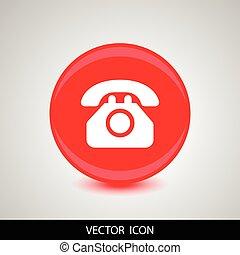 Vector phone icon white silhouette
