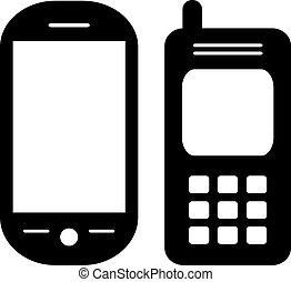 Vector phones set