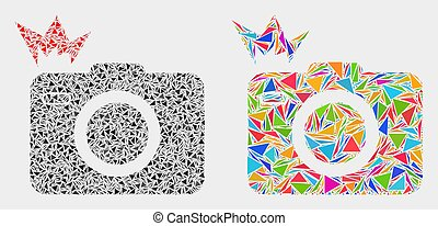 Vector Photo Flash Mosaic Icon of Triangles - Photo flash ...