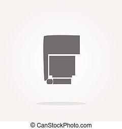vector photo flash web icon, button