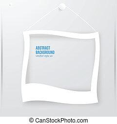 Vector photo frame banner. Vector illustration.