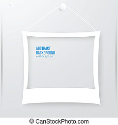 Vector photo frame banner. Vector illustration.