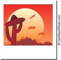 Vector Photo frame - Go Mexico