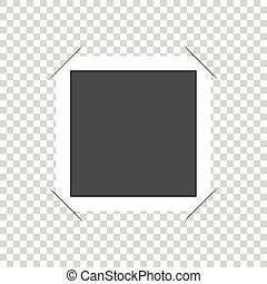 Vector photo frame with corners. Isolated on white background.