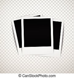 Vector photo frame with shadow
