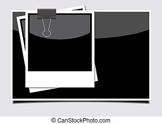 Vector photo on gray background. Eps10