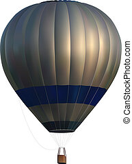 hot air balloon - vector photo realistic hot air balloon on ...