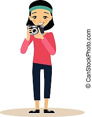 Vector Photographer in Flat Style