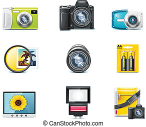 Vector photography icons. P.1 - Set of the detailed photo ...