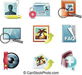 Vector photography icons. P.5 - Set of the detailed photo...