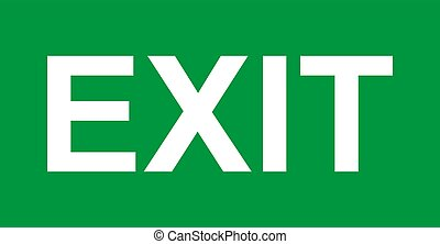 vector, pictogram, afslaf, arrow., meldingsbord, veiligheid, helpen, symbool., evacuatie, deur, zonder, ontsnapping