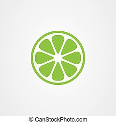 vector, pictogram, citroen, logo, fruit, ontwerp