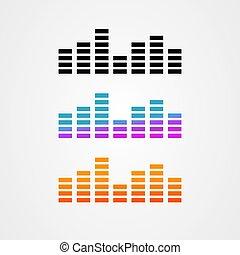 vector, pictogram, golf, geluid, ontwerp