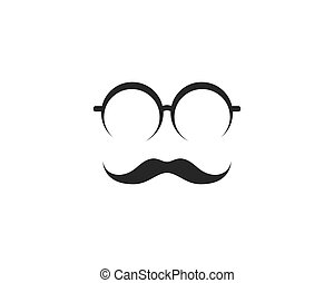 vector, pictogram, mustache