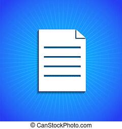 vector, pictogram, op, blauwe , achtergrond., eps10