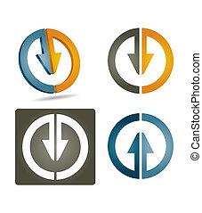 vector, pictogram, set