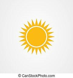 vector, pictogram, zon, logo, ontwerp