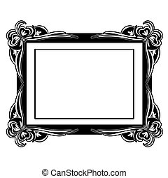 Vector picture frame - Customizable vector picture frame ...