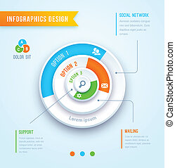 circle graph infographics