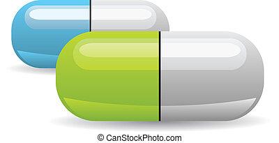 vector pill illustration