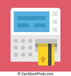 vector, pinautomaat, pictogram