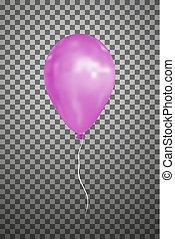 Vector pink air balloon. Eps10.