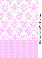 Vector pink and white wallpaper