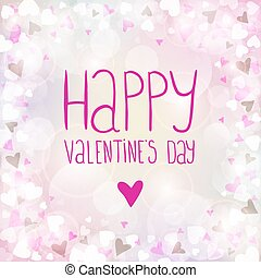 Vector pink background for Valentines day
