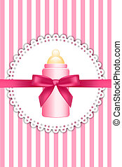 background with bow and baby bottle
