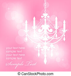 Vector pink background with chandel
