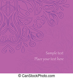 pink background with ornate