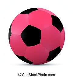 Vector Pink Ball Isolated on White Background