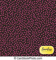 Vector pink dot pattern on dark background.